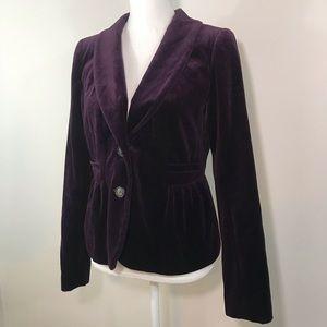 J. Crew Purple Velvet Blazer Jacket - Size 8